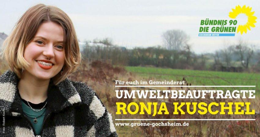Umweltbeauftragte Ronja Kuschel